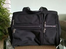Tumi Alpha Compact Large Screen Business Briefcase Laptop Bag Black Nylon
