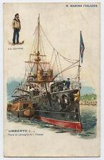cartolina marina militare NAVE DA BATTAGLIA DI I CLASSE UMBERTO I