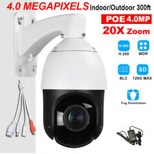 CCTV Security IP66 H.265 POE 4MP High Speed PTZ Camera IR 100M 20X Zoom ONVIF