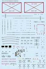 Barracuda 1/24 #C24167 Mosquito Airframe Stencils - Expanded