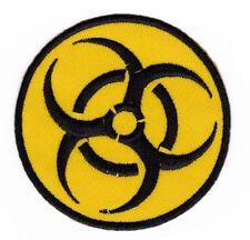 am23 Warnzeichen Biohazard Symbol Aufnäher Bügelbild Patch Applikation Flicken