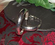 LUXUS Ohrringe Creolen XXL 50mm GROß Silber plattiert Schlangenleder Optik C24