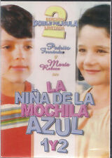 SEALED - La Nina De La Mochila Azul 1 y 2 DVD NEW Pedrito Fernandez Maria Rebeca