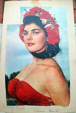 1957 AUTOGRAFO BALLERINA E ATTRICE COLLEEN BENNETT CON FOTO E DEDICA