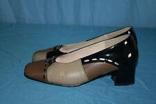 VINTAGE Zapatos De Salón De Piel Multicolor T 36 BE