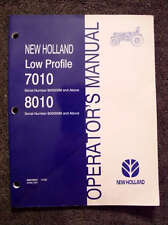 New Holland 7010 8010 Low Profile Tractor Operators Manual Very Nice