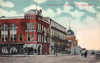 Postcard First Street, North from First Avenue in Cedar Rapids, Iowa~109714