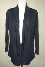 Free to Live Drape Front  Nursing Cardigan Top Size Large Black  Criss Cross
