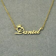 Personalized Custom Name Necklace Jewelry Crown Heart Fashion Gift Gold Silver