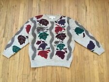 Norm Thompson 100% Wool Sweater Women's Small S Autumn Leaves Colorful Design
