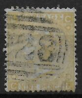 SG110-9d.Straw Plate 4-Scarce Part C28 Cancel Of Montevideo. Cat.£300+. Ref.1165