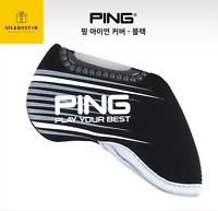 PING 2021 New Premium Original Golf Iron Club Head Cover(9pcs) Black Neoprene