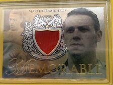 Martin Demichelis Futera Unique 2011 Memorabilia Gold #MEMG03 Jereey Argentina