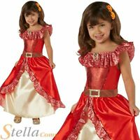 Girls Deluxe Elena Of Avalor Costume Disney Princess Fancy Dress Child Outfit