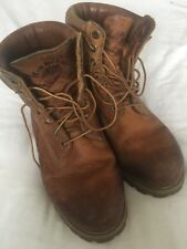 SPECIAL EDITION TIMBERLAND ANNIVERSARY HERITAGE BURNT ORANGE BOOTS SIZE 10 UK