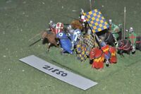 25mm medieval / english - men at arms 8 figs cavalry - cav (21850)