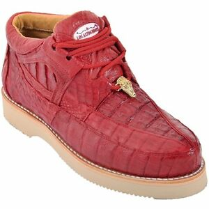 Men's Los Altos Genuine Full Caiman Casual Shoes Lace Up Exotic Sneaker