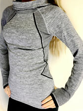 Pro Hyperwarm Women's Training Fitness Gym Running Hoodie Top Functional Fabric L Grey