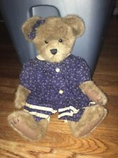 "BOYDS BEARS ARCHIVE COLLECTION  16""   DRESSED IN BLUE DRESS BLUE BOW RT EAR"