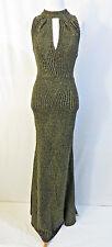 Aqua Dresses Long Gold Black Cocktail Dress Size XS # L76(stretchy)
