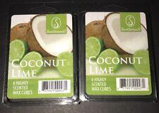 SCENTSATIONALS Scented Wax Cubes COCONUT LIME / 2 Packs / 2.5 Oz Each