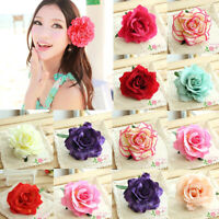 1pc Women Bridal Rose Flower Hairpin Wedding Bridesmaid Accessories Hair Clip