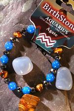 AQUARIUS-Lucky Birthstone & Talisman 'Power Bracelet' free book & Bookmark