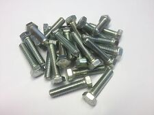 QTY 6 M7 X 60 HEX SET BOLTS FULLY THREADED 8.8 HIGH TENSILE BRIGHT ZINC PLATED