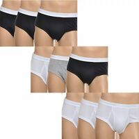 Calvin Klein Mens Basics 3 Pack Brief, With Fly Opening, Cotton Multipack U1000A
