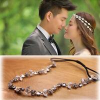 Elegant Lovely Girl Rhinestone Flower Headband Head Chain Hair Band Jewelry