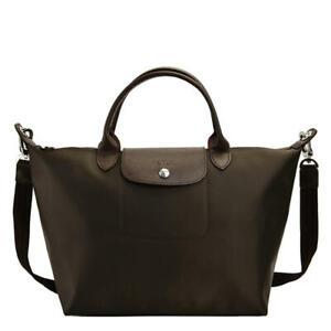 Longchamp Le Pliage Neo Medium Handbag Coffee Auth