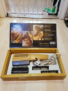 Vintage Remington 850 Hair Dryer in Working Order Original Box All Attachments