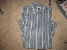 VTG ROCKMOUNT ROCKABILLY SNAP WESTERN COWBOY PLACKET FRONT CONCERT shirt-M/L