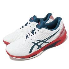 Asics раствор скорость FF 2 белый синий красный мужские теннисные кроссовки, обувь, 1041A182-101