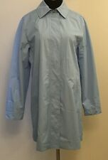NEW Womens White Stag Baby Blue Trench Coat Rain Coat Size S 4/6