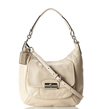 Coach Kristin Leather Hobo Shoulder Bag Crossbody Bag F22306 Handbag Champagne