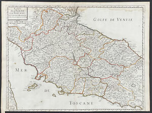 Sanson - Regional Map of Italy. 1-140, 1670 Cartes Folio Hand-Colored Engraving