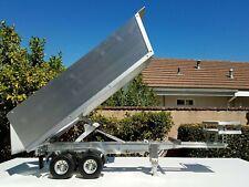 Aluminum Dump Bed Trailer with Motor Power Lift Tamiya RC 1/14 King Grand Hauler