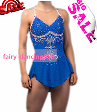 New Ice Figure Skating Dress Baton Twirling Dance Dress Blue Competition p119
