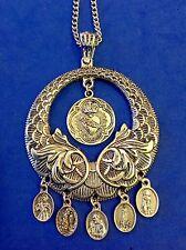 Custom Religious Catholic Saint Medal NECKLACE HEALING PIo Peregrine Lourdes