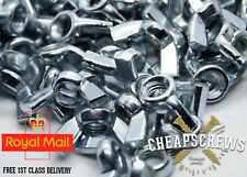 M3 M4 M5 M6 M8 M10 M12  STEEL WING NUTS BUTTERFLY NUT ZINC PLATED FREE DELIVERY