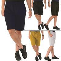 Mens Plain Cotton Casual Summer Shorts Walking Gym Jogging Workout Bottoms Short