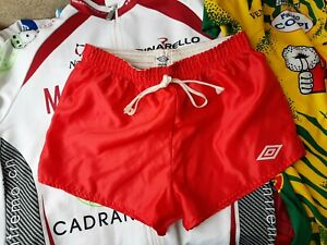 Umbro Shorts Vintage England 1980/1990 Red Soccer OLD