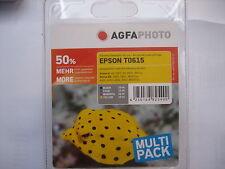 ORIGINALE Agfa inchiostri Epson Set t0615 Stylus s20 dx-3800 -3850 -4200 -4800 -4850