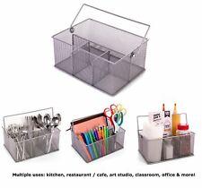 Stainless Steel Organizer Caddy For Kitchen Utensils Condiments Art Supplies Etc