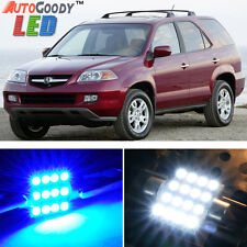 18 x Premium Blue LED Lights Interior Package Kit for Acura MDX 2001-2006 + Tool