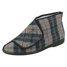 Mens Balmoral Patterned Slipper Boot