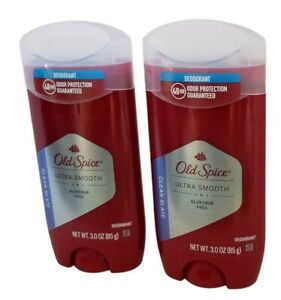 2 Old Spice Ultra Smooth Aluminum Free Deodorant for Men CLEAN SLATE 3.0 oz each