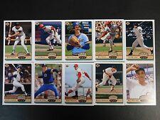 Complete set of 1992 Upper Deck HEROES HIGHLIGHTS Baseball Cards