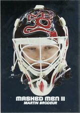 09/10 BETWEEN THE PIPES MASKED MEN II MASK SILVER #MM-08 MARTIN BRODEUR *44343